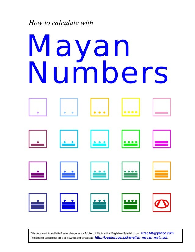 How To Calculate With Maya Numbers
