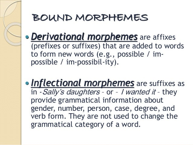 essay on morphemes This article is written like a personal reflection or opinion essay that states a wikipedia editor's personal feelings about  and may consist only of root morphemes.