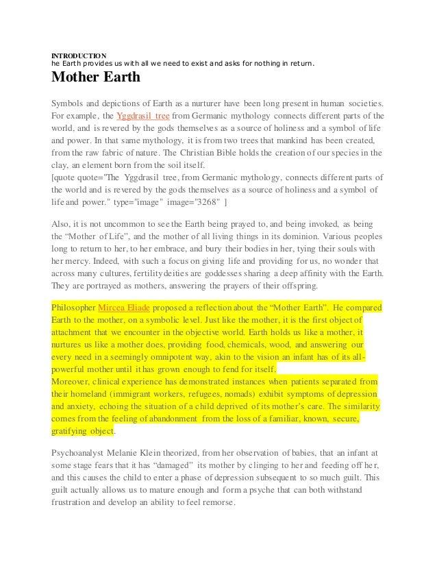 English Mother Earth