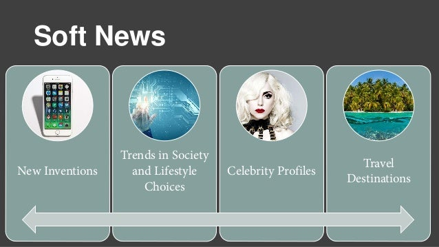 Soft News New Inventions Trends in Society and Lifestyle Choices Celebrity Profiles Travel Destinations