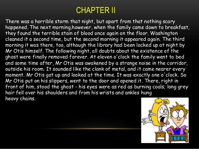 CANTERVILLE GHOST NOVEL CHAPTERWISE PPT