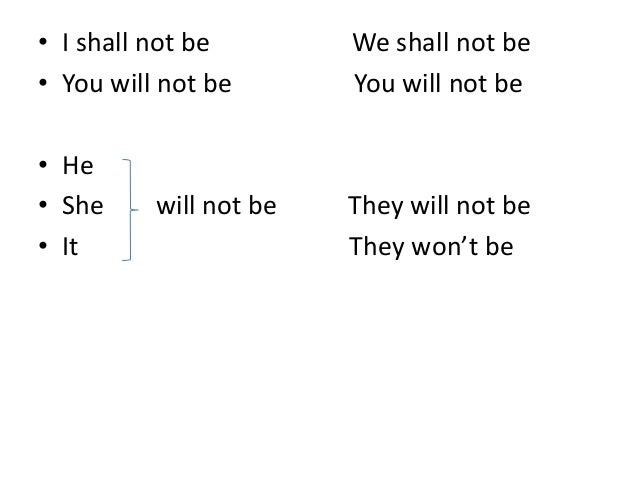 i shall we shall