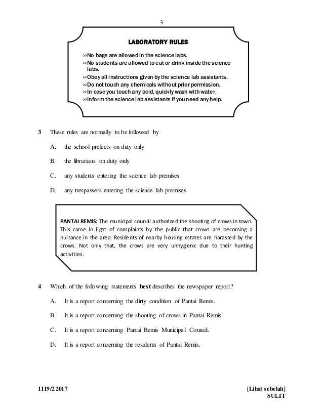 English Paper 2 Form 4