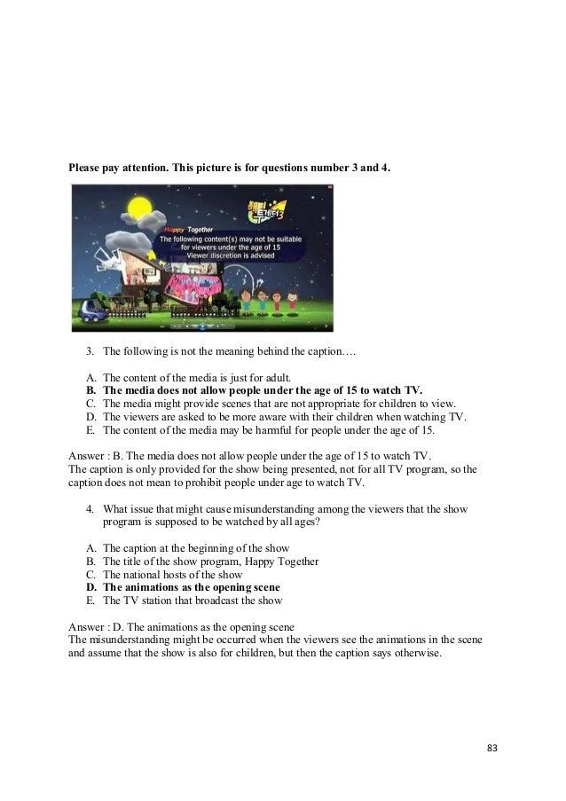 Soal Pilihan Ganda Caption Text 5