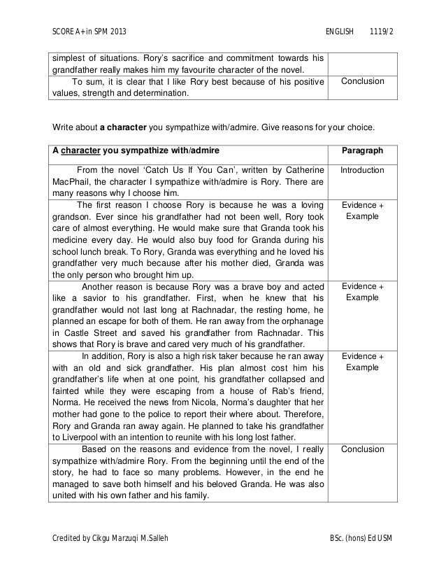 english essays spm 2013 Spm english 1119 past year papers 2013 'truly malaysian for the new spm examination format, letter writing is not included in section b.