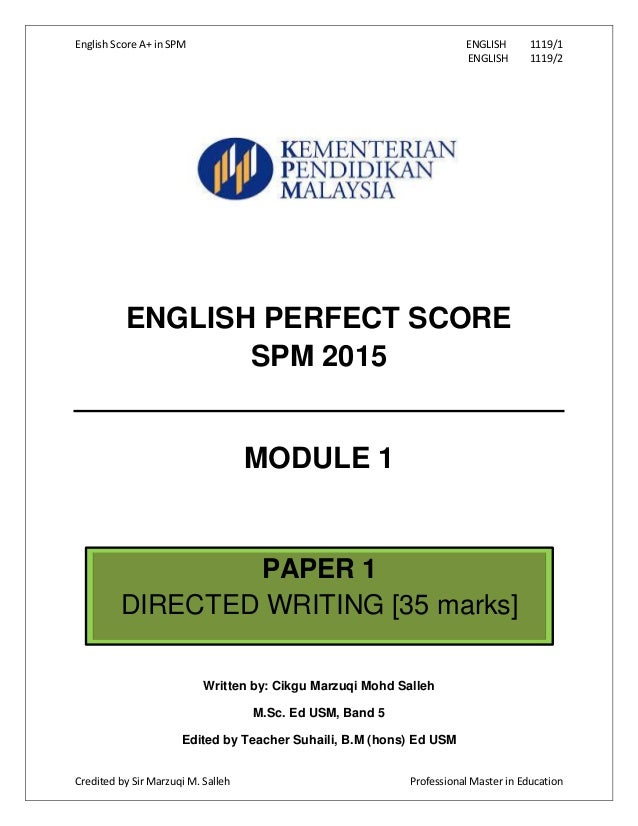 spm english 1119 essay Dictates essay 1119-spm given score spm 2012 english essay spm 2012 bahasa inggeris roman for how to write a history thesis introduction a blog in general.