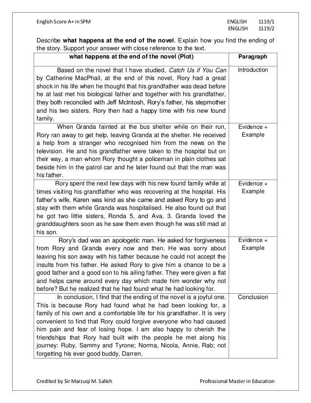 Essay english spm