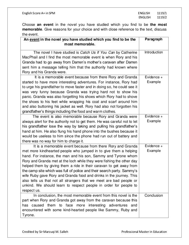 example of essay writing spm article