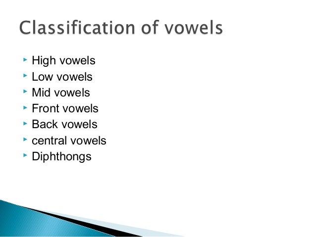 English Phonetics And Phonology Vowels