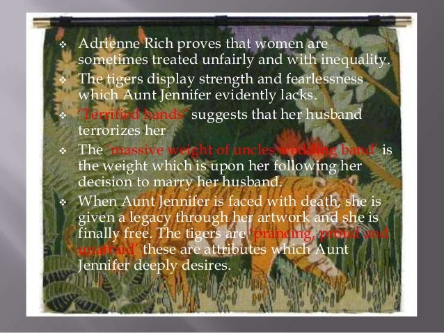 aunt jennifer's tiger summary