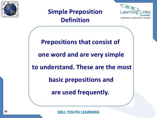 double preposition examples sentences