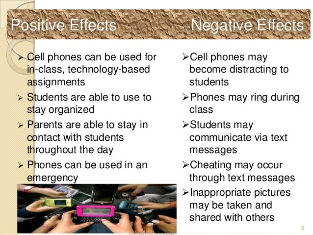 positive and negative effects of the mobile phone
