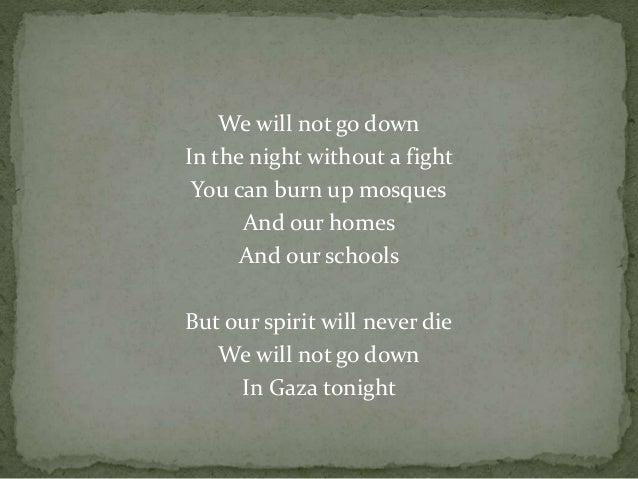 Michael Heart – We Will Not Go Down (Song for Gaza) Lyrics ...