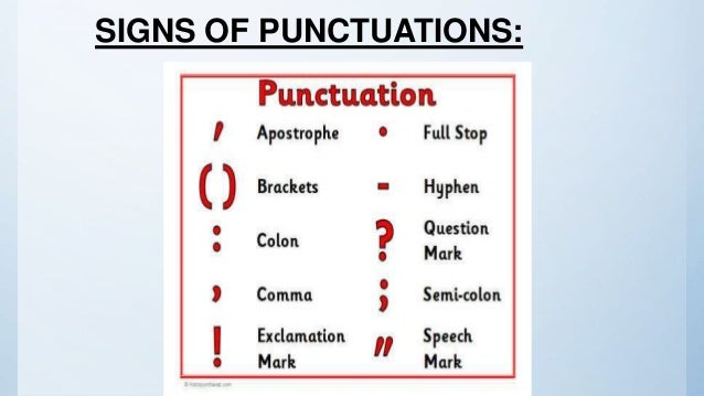 punctuation signs and meanings