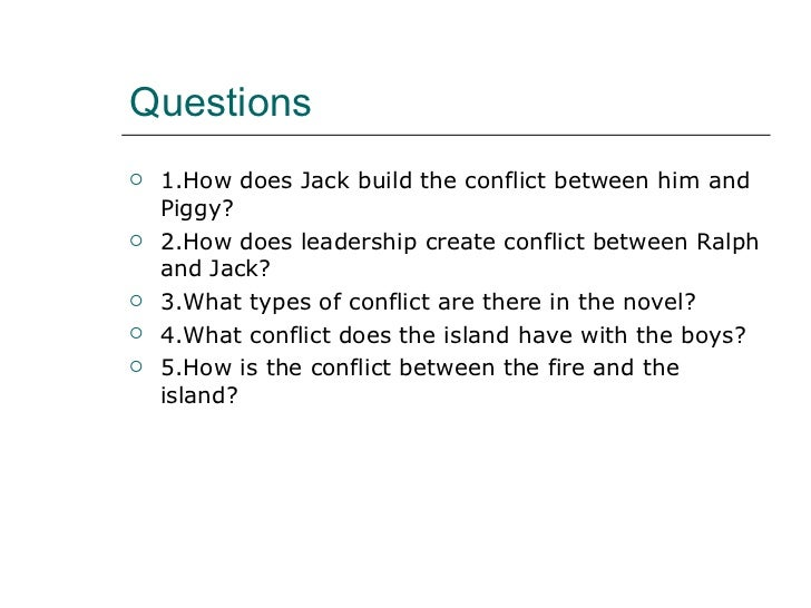Lord of the Flies- Conflict (Pupil's work)
