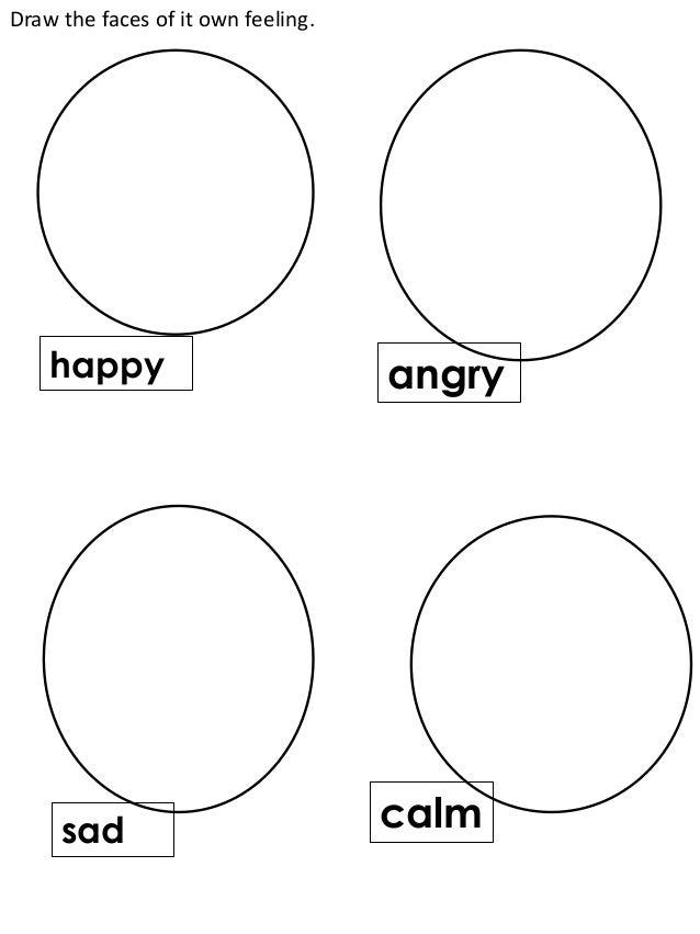 Sad Face Worksheet : English preshool worksheet