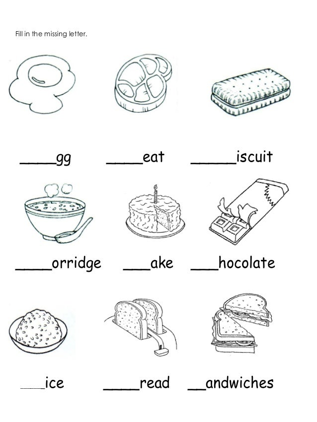 English preshool worksheet