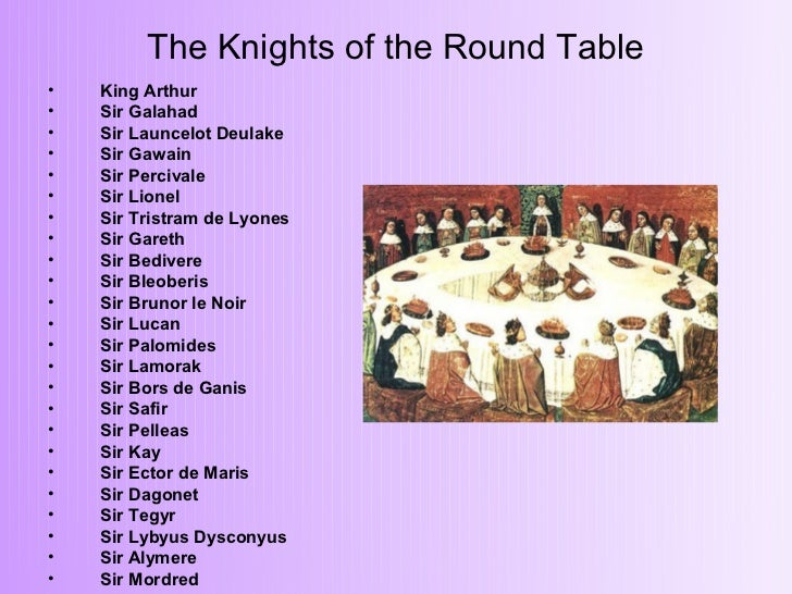 a literary analysis of king arthur and the knights of the round table Arthur fills the seats of the round table with the most worthy knights in the land,  and every year at pentecost  jealousy, competition, and revenge theme icon.