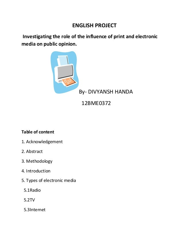 Essay on role of print and electronic media
