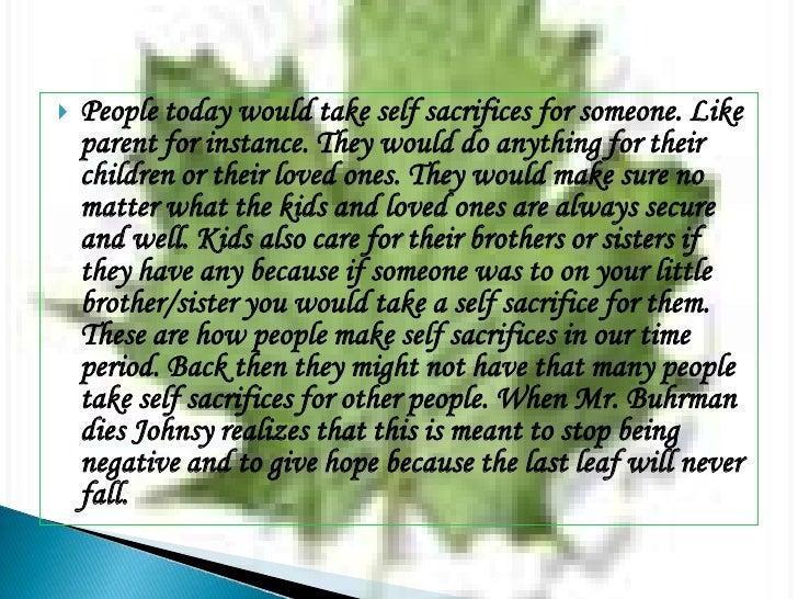 last leaf summary essays