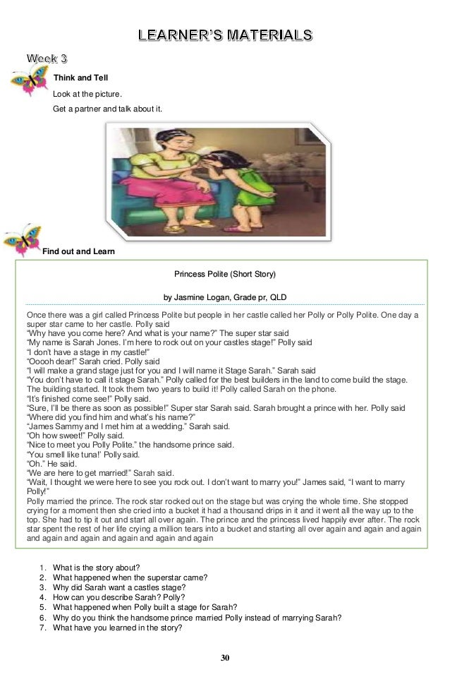 Worksheets Grade 5 Complete The Story k to 12 grade 5 learners material in english q1 q4