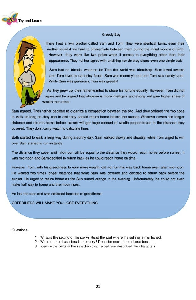 Printables Grade 5 Complete The Story k to 12 grade 5 learners material in english q1 q4