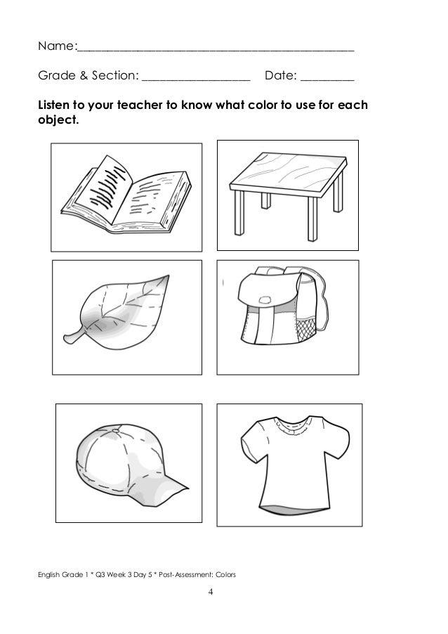 Worksheets For Grade 1 In English - A Worksheet Blog