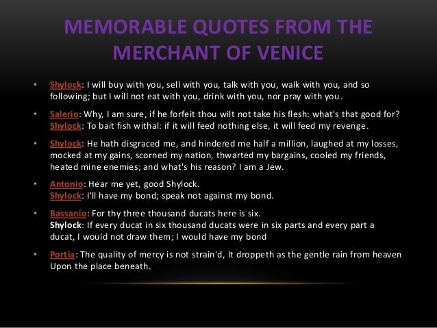 Prejudice in The Merchant of Venice
