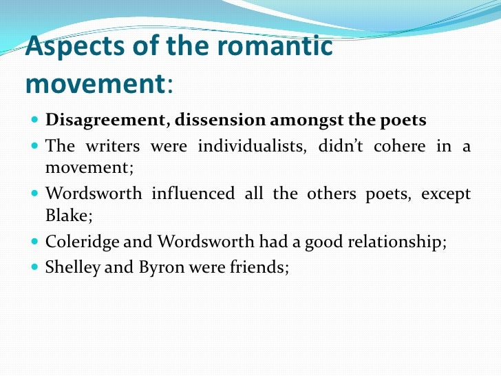 Features of romanticism in english literature