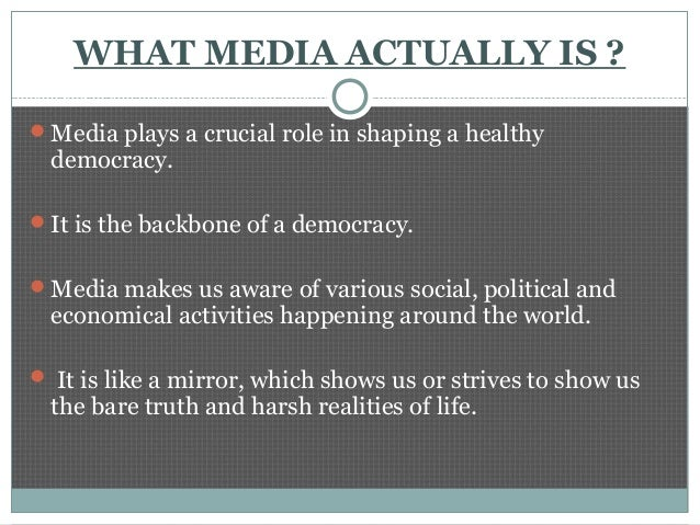 role of media in a democracy essay