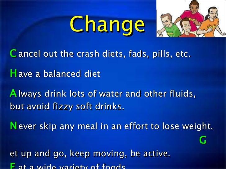 Crash dieting for teens