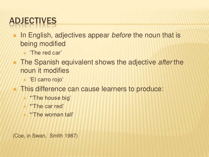 Image Result For Spanish Speakers Learning English Common Errors