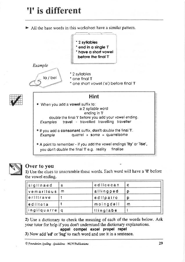English spellings – Adding Ed and Ing Worksheets