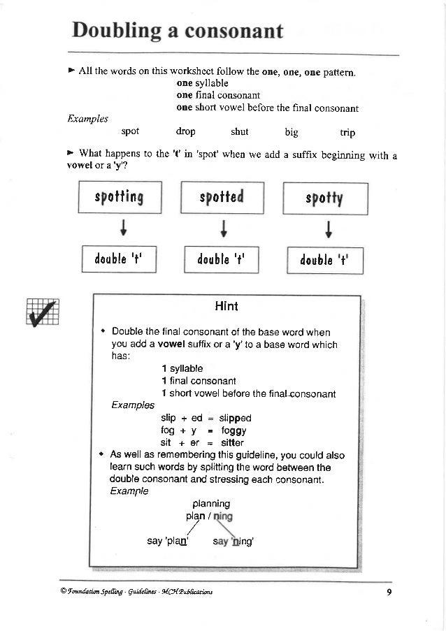 English Spellings
