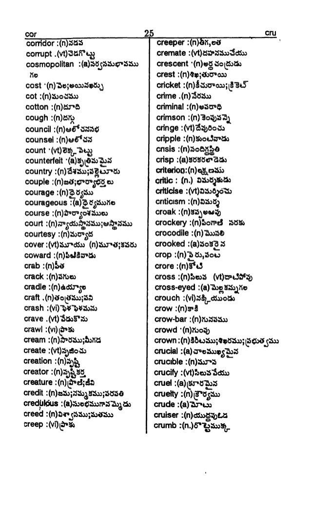 Telugu Dictionary Pdf