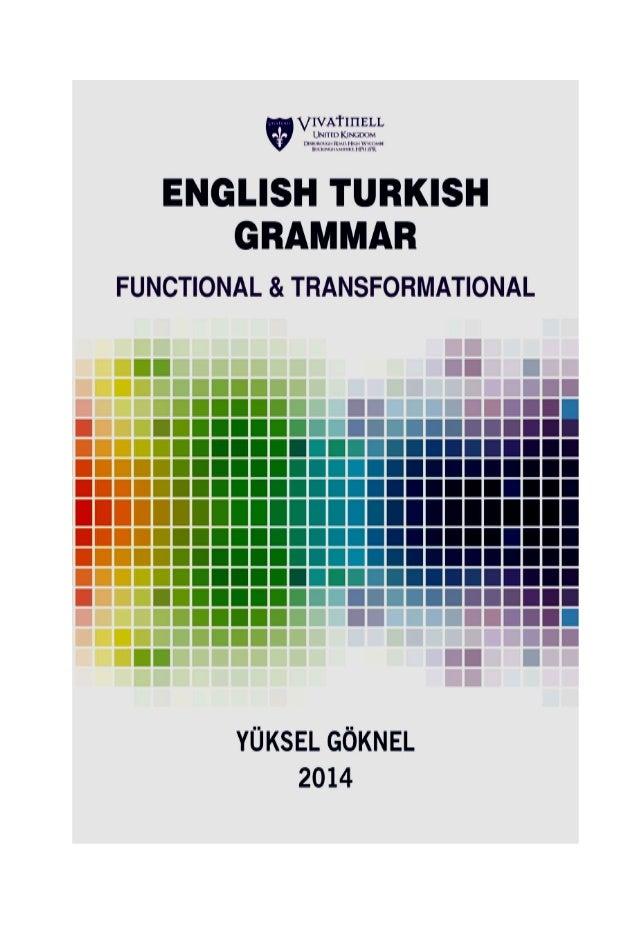 ENGLISH TURKISH GRAMMAR 1 ygoknel@outlook.com