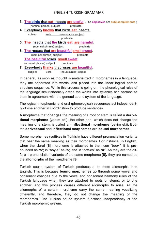 ENGLISH TURKISH GRAMMAR 46 FORM AND FUNCTION IN LANGUAGES Form and function are different notions in languages. Form is th...