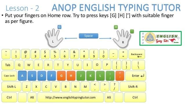 English Typing Tutor