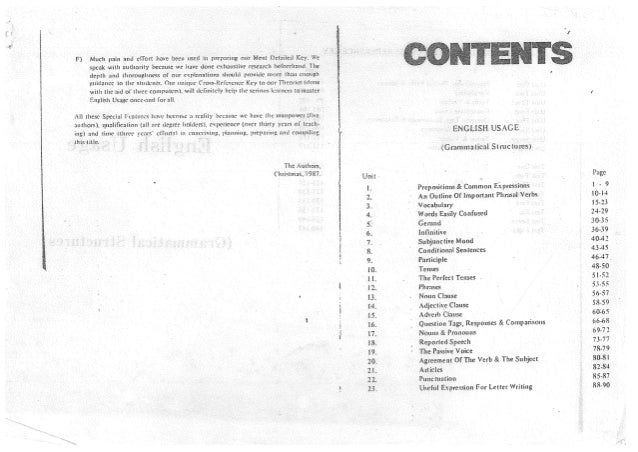 English Usage 1987 (Handout)