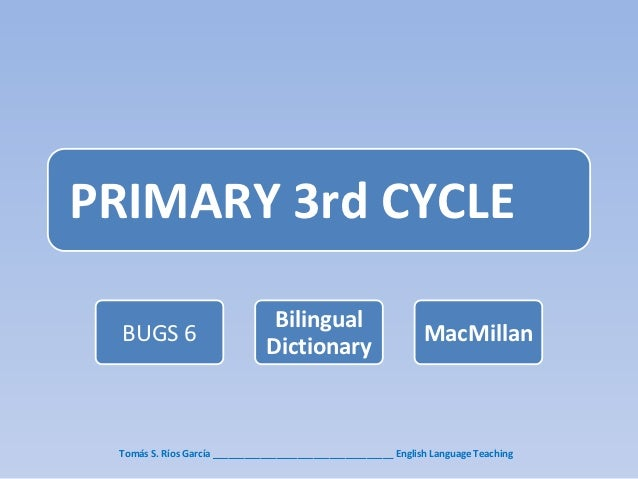 PRIMARY 3rd CYCLE                                Bilingual  BUGS 6                                                       M...