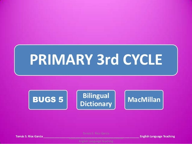 PRIMARY 3rd CYCLE                                            Bilingual           BUGS 5                                   ...
