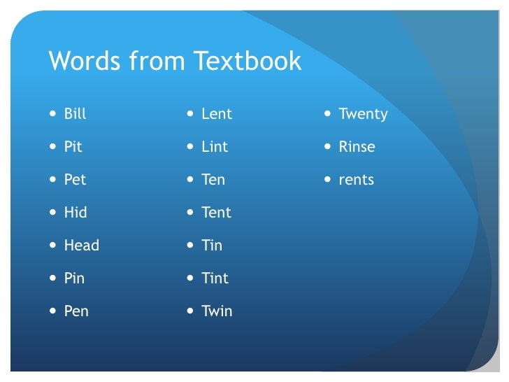 Overview English Vowels Diction