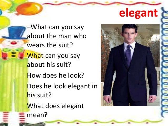 What Does Elegant Mean english week 9
