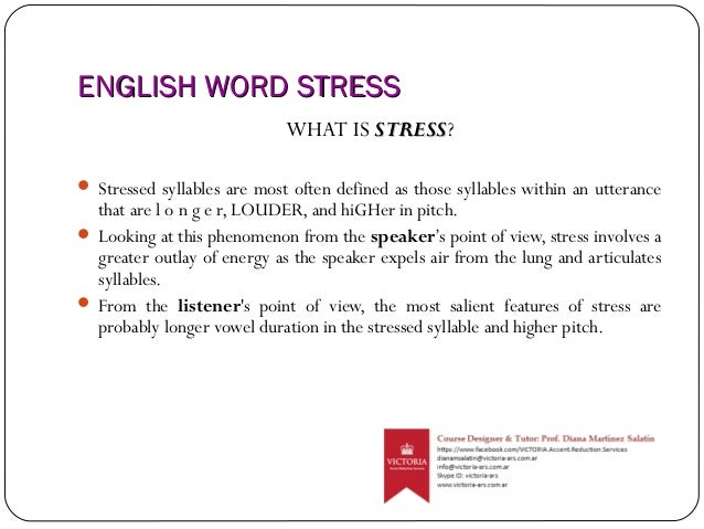 Word Stress and Syllables