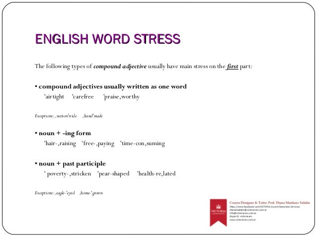 types of english stress Esl intonation guide improving sentence intonation is one of the key elements in your english pronunciation let's discuss the four basic types of word stress that lead to proper intonation in english tonic stress emphatic stress contrastive stress new information stress tonic stress tonic stress refers to the syllable in a word.
