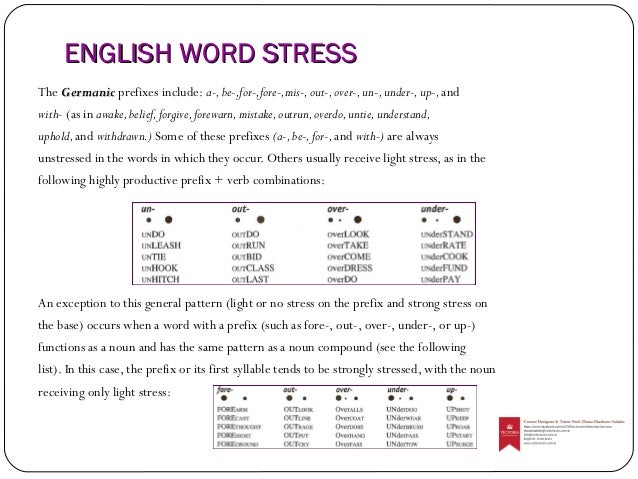 stressed syllables in english pdf