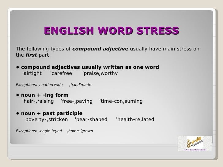 how to put stress on a word