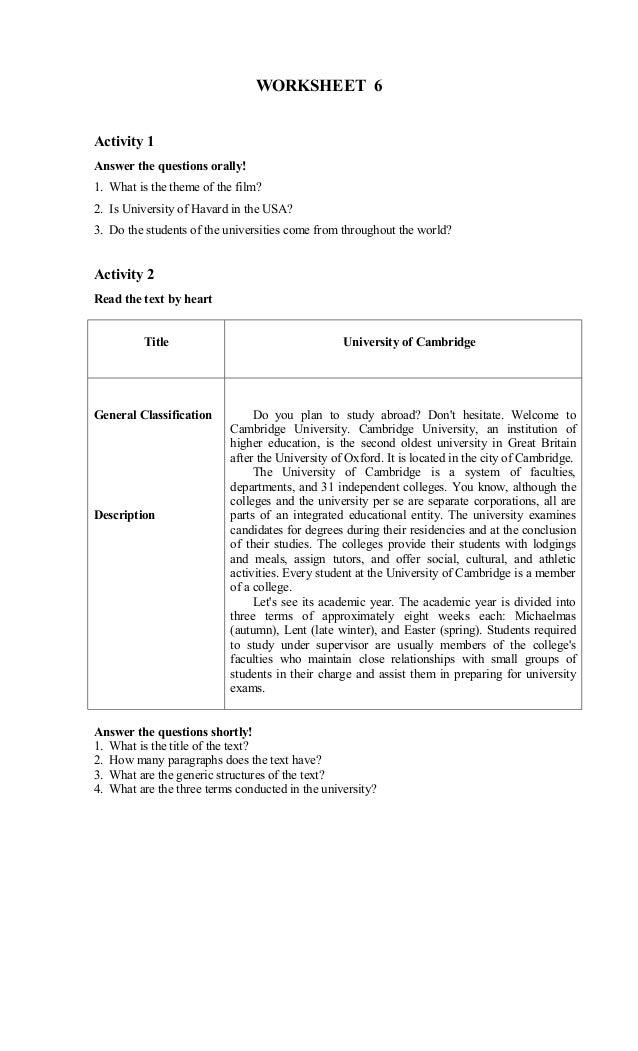 English worksheet xi worksheet 6activity solutioingenieria Image collections