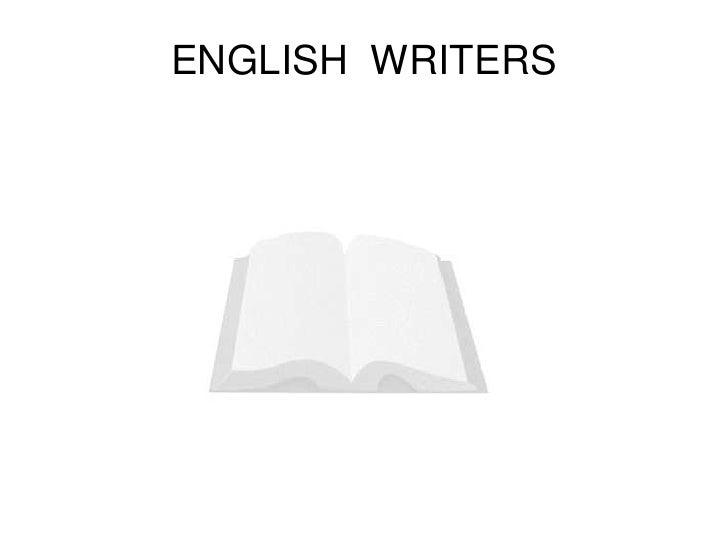 ENGLISH WRITERS
