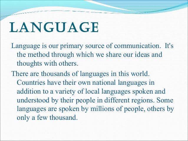 importance of english language